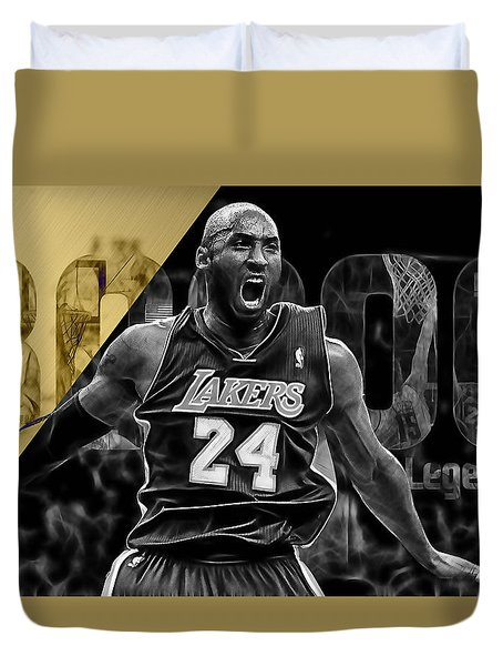 Kobe Bryant Collection Duvet Cover by Marvin Blaine