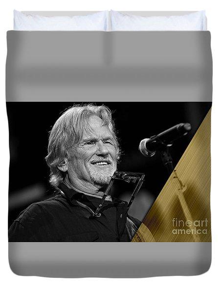 Kris Kristofferson Collection Duvet Cover by Marvin Blaine