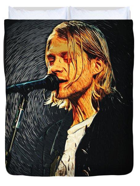 Kurt Cobain Duvet Cover by Taylan Soyturk
