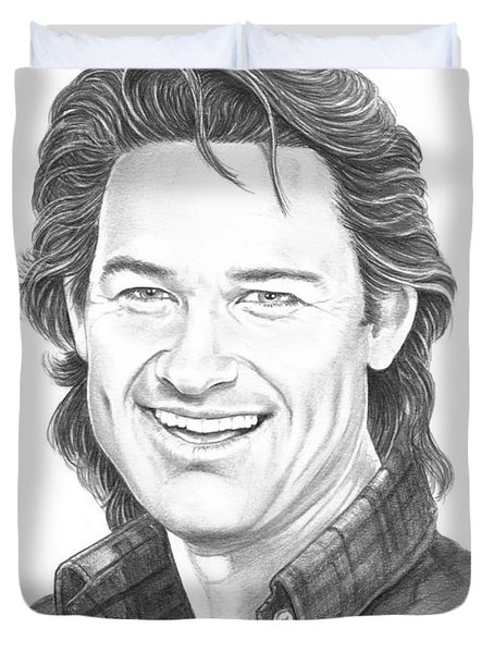 Kurt Russell Duvet Cover by Murphy Elliott