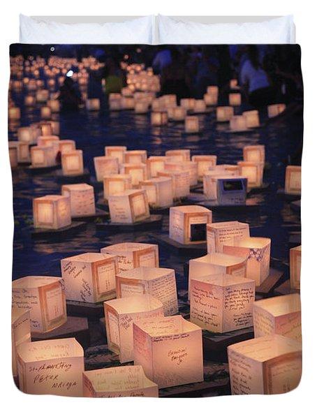 Lantern Ceremony Duvet Cover by Brandon Tabiolo - Printscapes