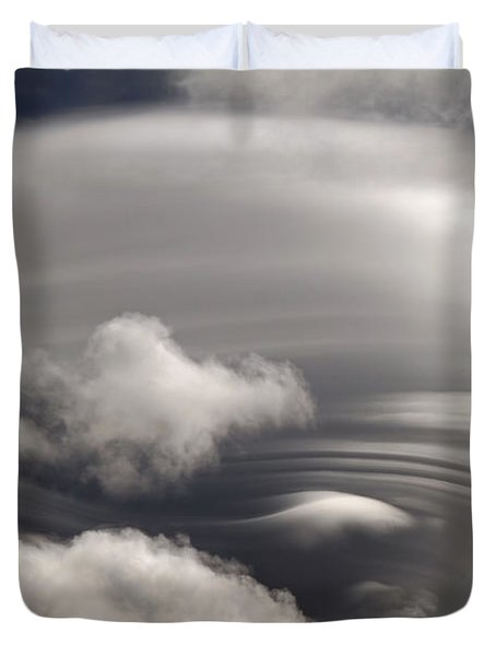 Lenticular Clouds Duvet Cover by Donna Kennedy
