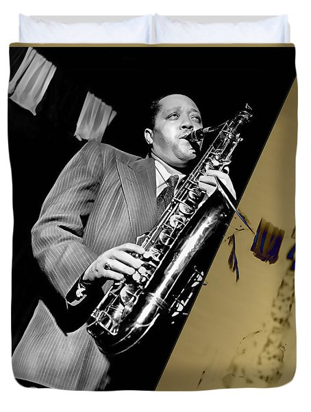 Lester Young Collection Duvet Cover by Marvin Blaine