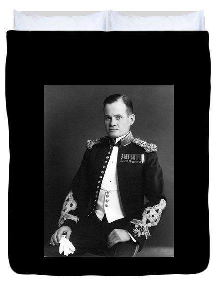 Lewis Chesty Puller Duvet Cover by War Is Hell Store