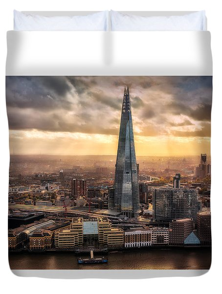 London From The Sky Garden Duvet Cover by Ian Hufton