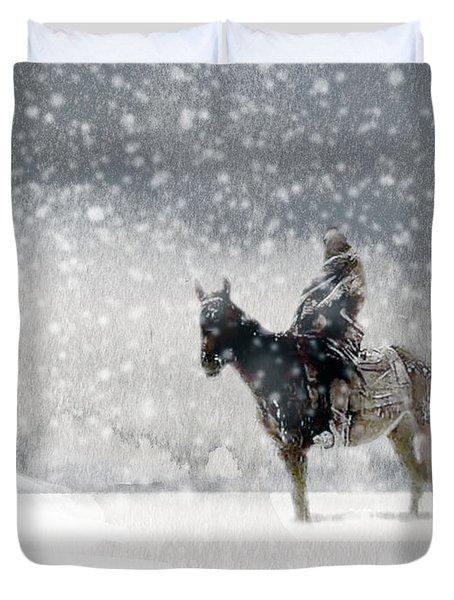 Longest Winter Duvet Cover by Paul Sachtleben