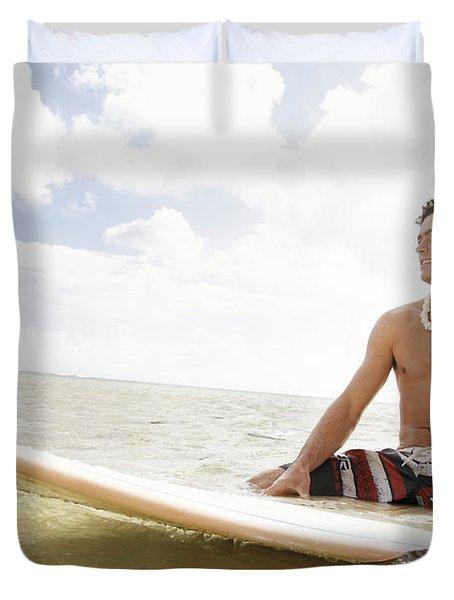 Male Surfer Duvet Cover by Brandon Tabiolo - Printscapes