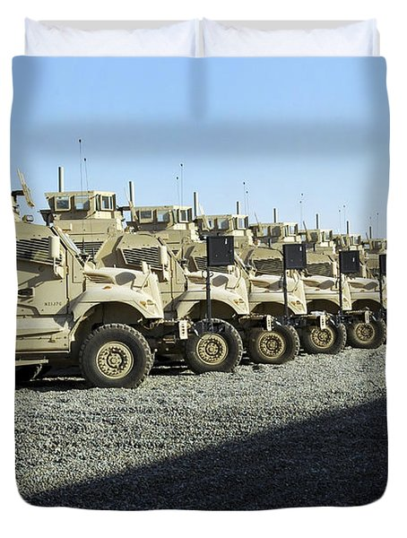 Maxxpro Mine Resistant Ambush Protected Duvet Cover by Stocktrek Images