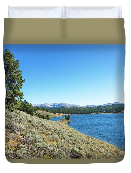 Meadowlark Lake View Duvet Cover by Jess Kraft