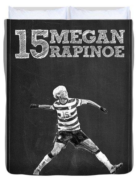 Megan Rapinoe Duvet Cover by Semih Yurdabak