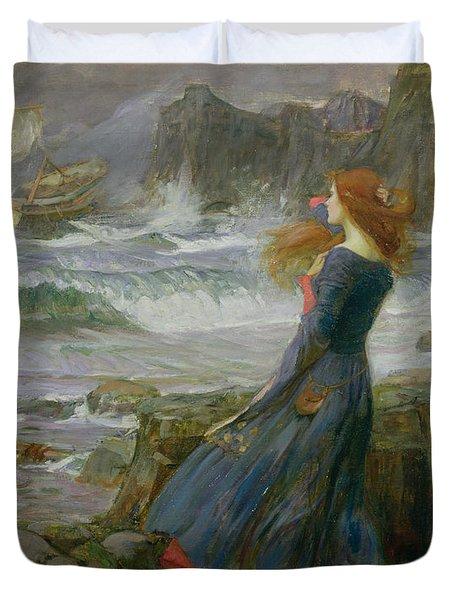 Miranda Duvet Cover by John William Waterhouse