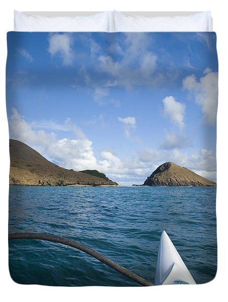 Mokulua Islands Duvet Cover by Dana Edmunds - Printscapes