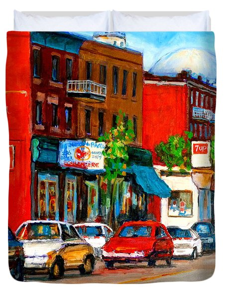 MONTREAL PAINTINGS Duvet Cover by CAROLE SPANDAU