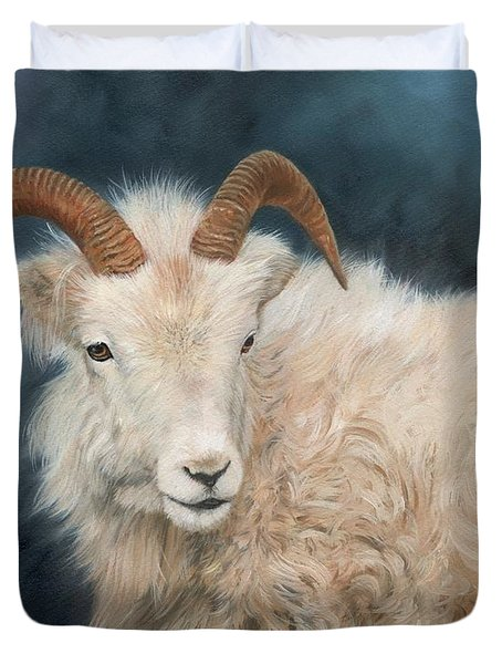 Mountain Goat Duvet Cover by David Stribbling