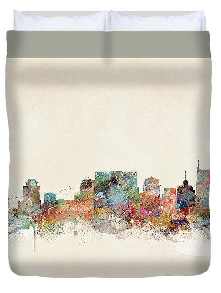 Nashville Tennessee Skyline  Duvet Cover by Bri B