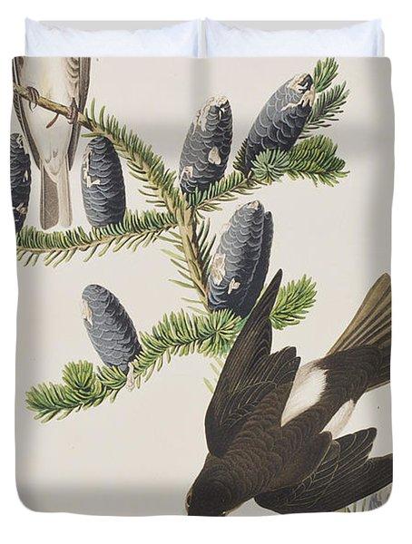 Olive Sided Flycatcher Duvet Cover by John James Audubon