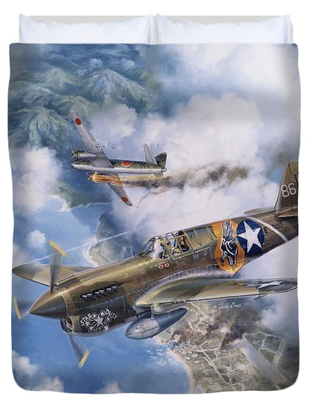 One Off At Darwin Duvet Cover by Randy Green