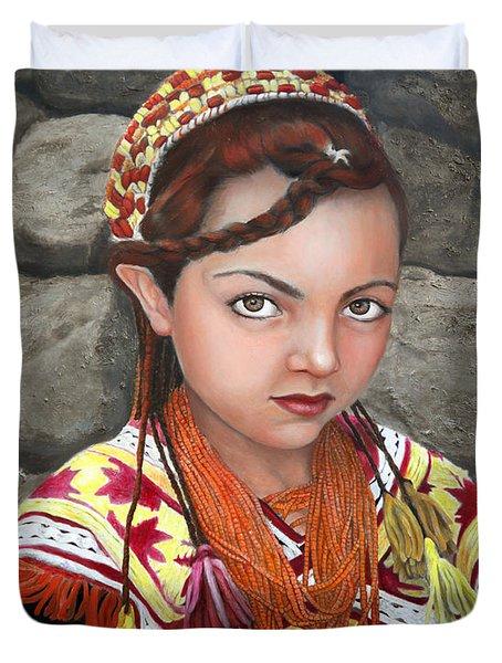 Pakistani Girl Duvet Cover by Enzie Shahmiri