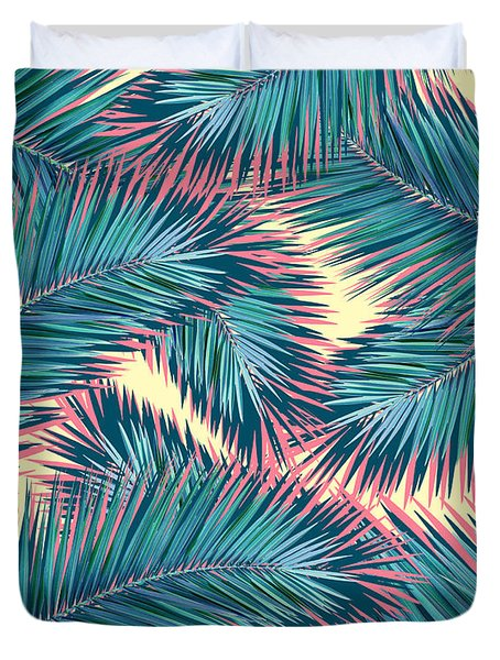 Palm Trees  Duvet Cover by Mark Ashkenazi