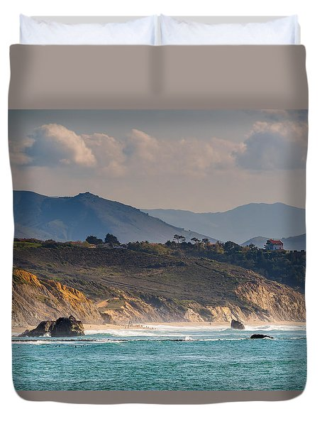 Duvet Cover featuring the photograph Pays Basque by Thierry Bouriat
