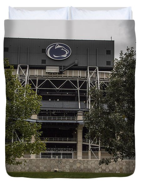 Penn State Beaver Stadium  Duvet Cover by John McGraw
