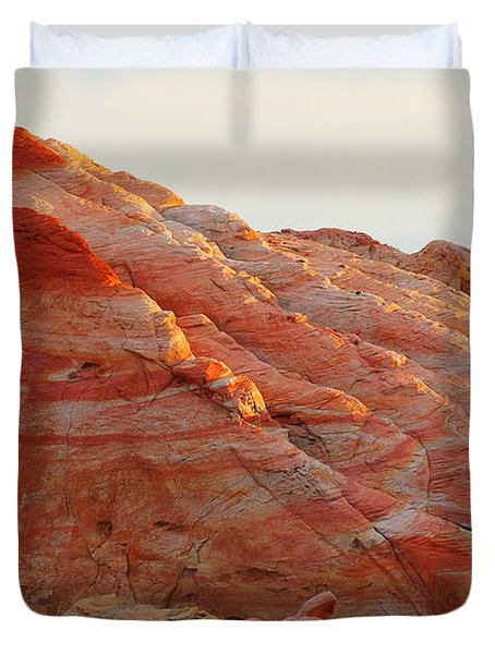 Petrified Fire Duvet Cover by Christine Till