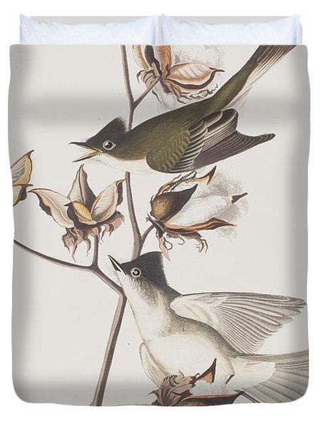 Pewit Flycatcher Duvet Cover by John James Audubon
