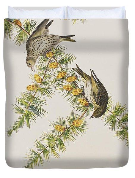 Pine Finch Duvet Cover by John James Audubon