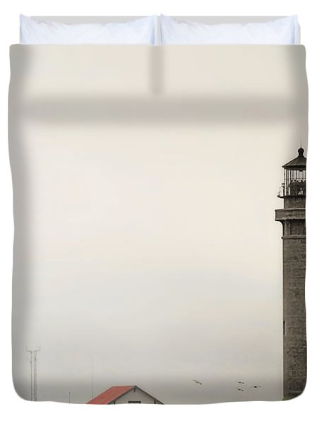 Point Arena Lighthouse Ca Duvet Cover by Christine Till