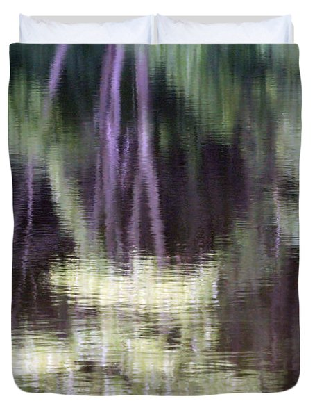 Pond Reflect Duvet Cover by Karol Livote