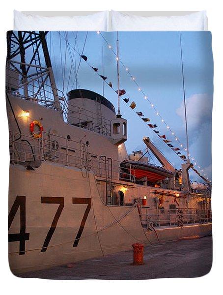 Portuguese Navy frigates Duvet Cover by Gaspar Avila