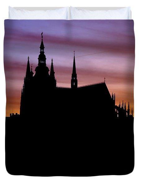 Prague castle Duvet Cover by Michal Boubin