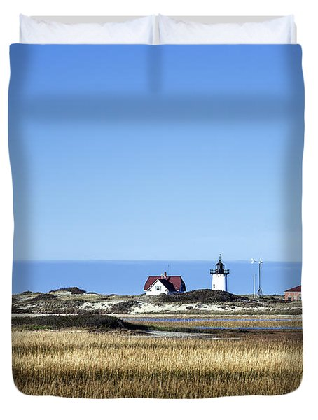 Race Point Lighthouse Duvet Cover by John Greim