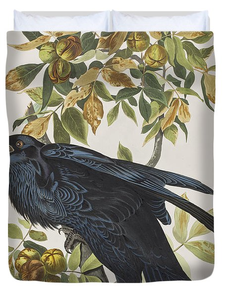 Raven Duvet Cover by John James Audubon