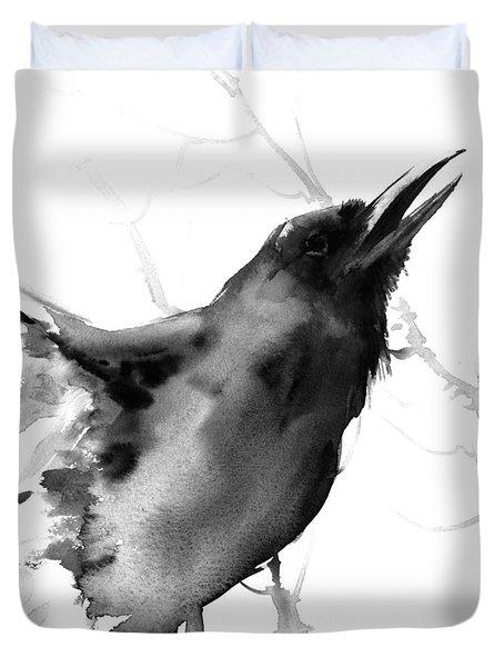 Raven Duvet Cover by Suren Nersisyan