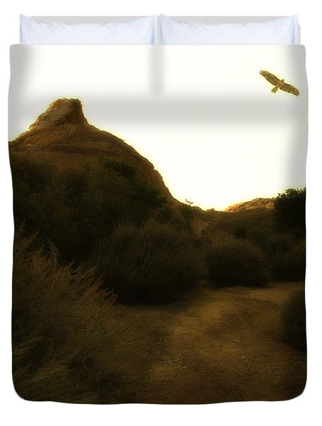 Red-tailed Hawk At Coyote Hills California . 7d11018 Duvet Cover by Wingsdomain Art and Photography