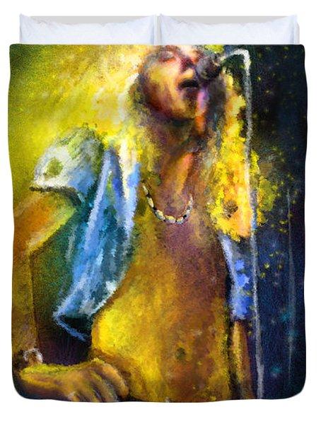 Robert Plant 01 Duvet Cover by Miki De Goodaboom