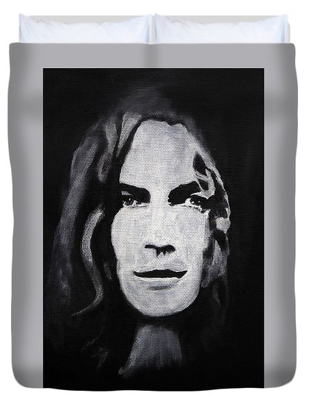 Robert Plant Duvet Cover by William Walts