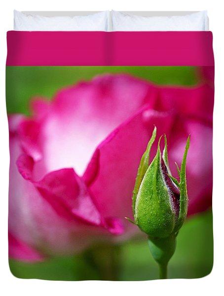 Rosebud Duvet Cover by Rona Black