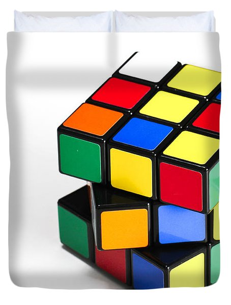 Rubiks Cube Duvet Cover by Photo Researchers