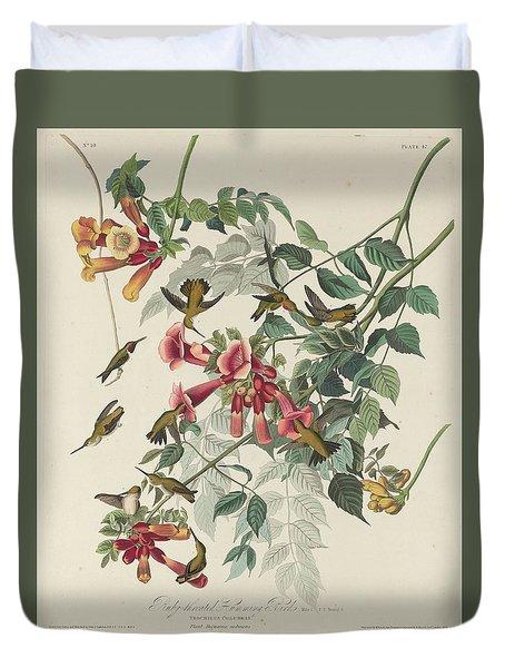 Ruby-throated Hummingbird Duvet Cover by John James Audubon