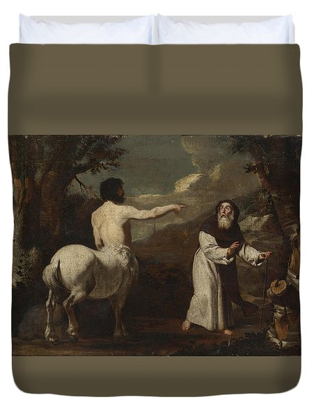 Saint Anthony Abbot And The Centaur Duvet Cover by Francesco Guarino