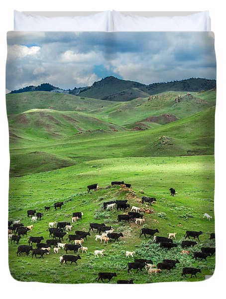 Salt And Pepper Pasture Duvet Cover by Todd Klassy