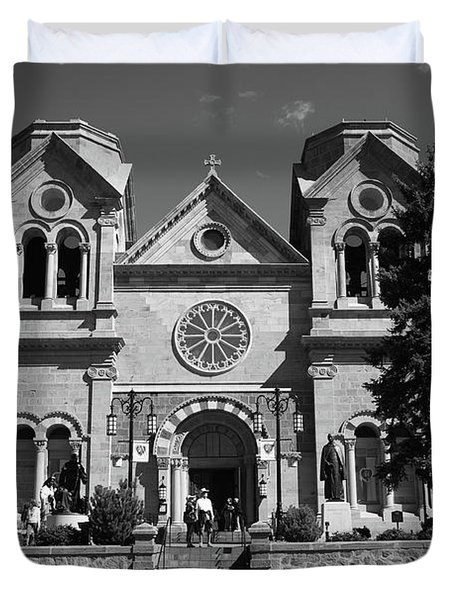 Santa Fe - Basilica Of St. Francis Of Assisi Duvet Cover by Frank Romeo