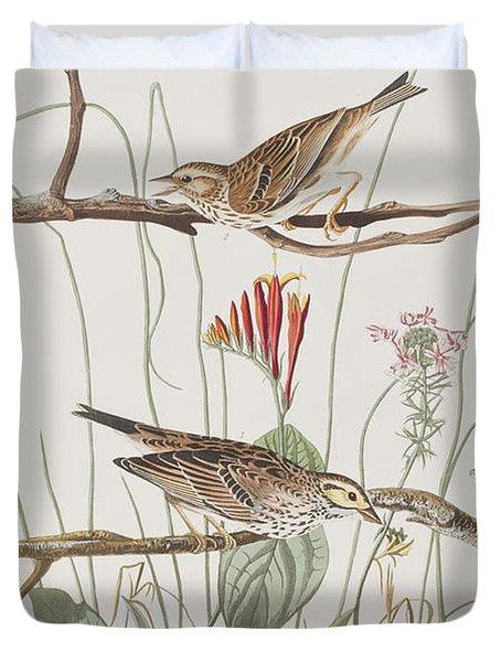 Savannah Finch Duvet Cover by John James Audubon
