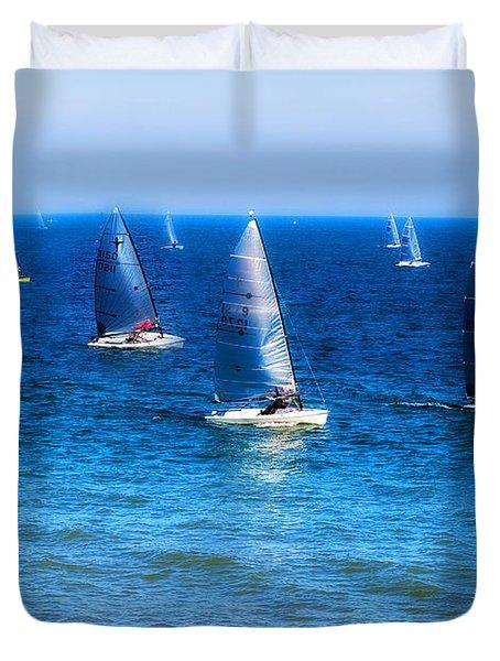 Seaside Fun Duvet Cover by Mal Bray