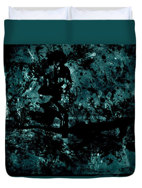 Serena Williams Work Of Art Duvet Cover by Brian Reaves