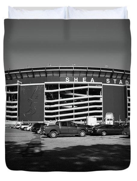 Shea Stadium - New York Mets Duvet Cover by Frank Romeo