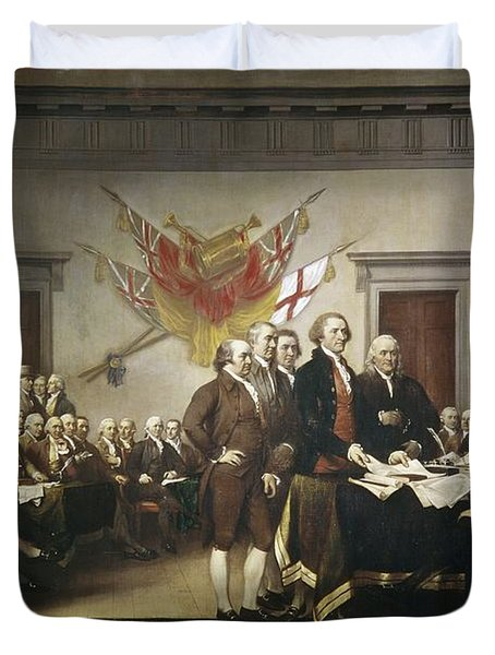 Signing The Declaration Of Independence Duvet Cover by John Trumbull