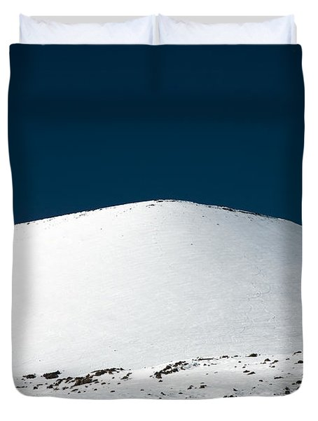 Snowy Mauna Kea Duvet Cover by Peter French - Printscapes